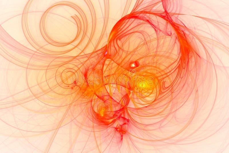 Abstrakcjonistyczny fractal ilustrujący tło odpłacający się tapetowym royalty ilustracja