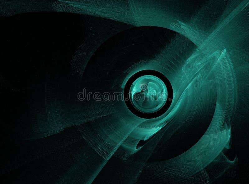 Abstrakcjonistyczny fractal okrąg zdjęcie stock