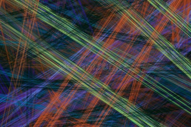 Abstrakcjonistyczny fractal tło z różnorodnym kolorem ilustracji