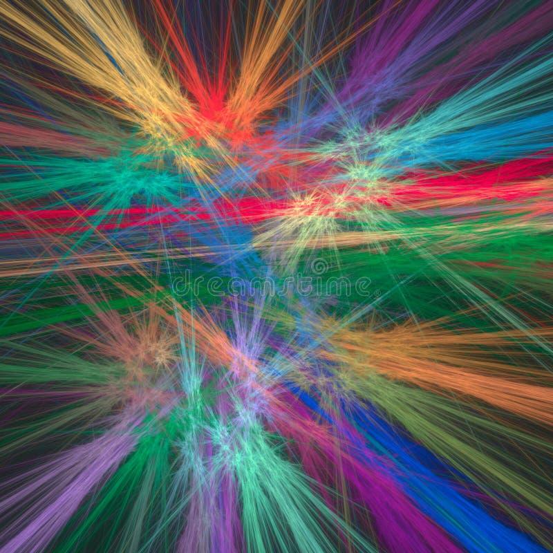 Abstrakcjonistyczny fractal tło z różnorodnym kolorem ilustracja wektor
