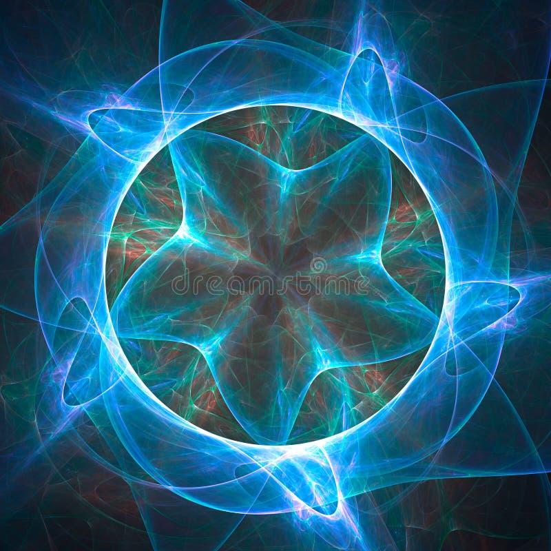 Abstrakcjonistyczny fractal tło z różnorodnym kolorem royalty ilustracja