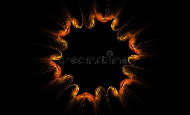 Abstrakcjonistyczny fractal w postaci pożarniczego kwiatu obraz stock