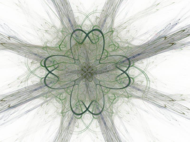 Abstrakcjonistyczny fractal z zielonym kwiecistym wzorem fotografia stock
