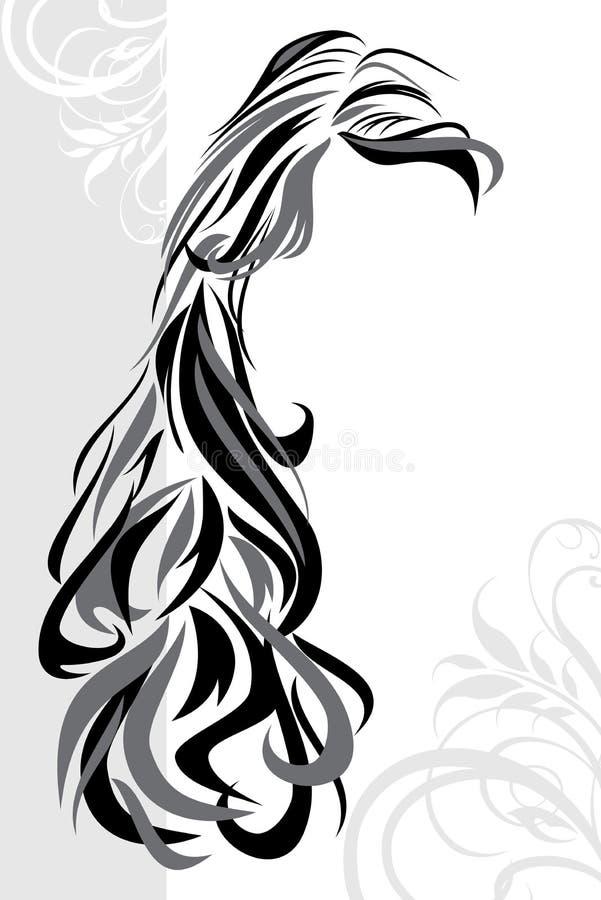 Abstrakcjonistyczny fryzury tło ilustracja wektor
