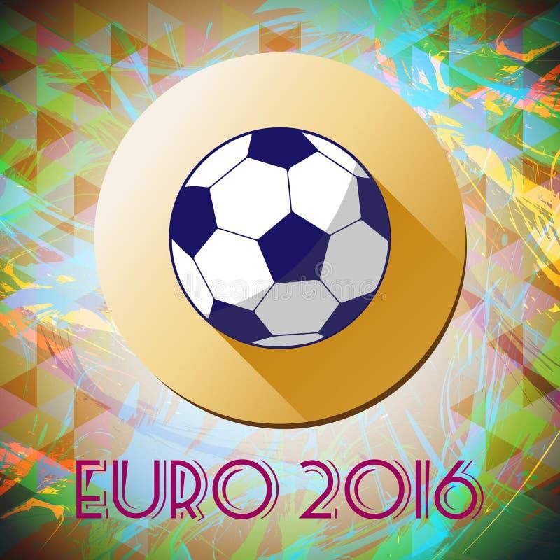 Abstrakcjonistyczny futbol, piłka nożna, mistrzowie, bawić się piłka i żółty okrąg infographic, 2016, ilustracji