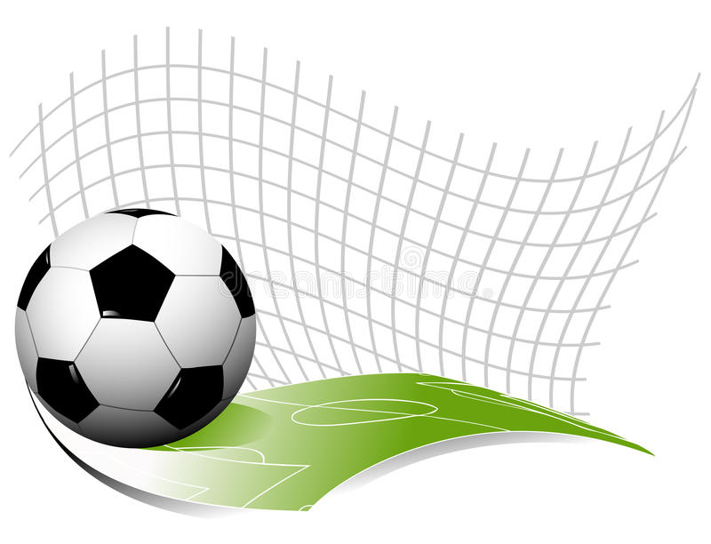 Abstrakcjonistyczny futbolowy tło ilustracja wektor