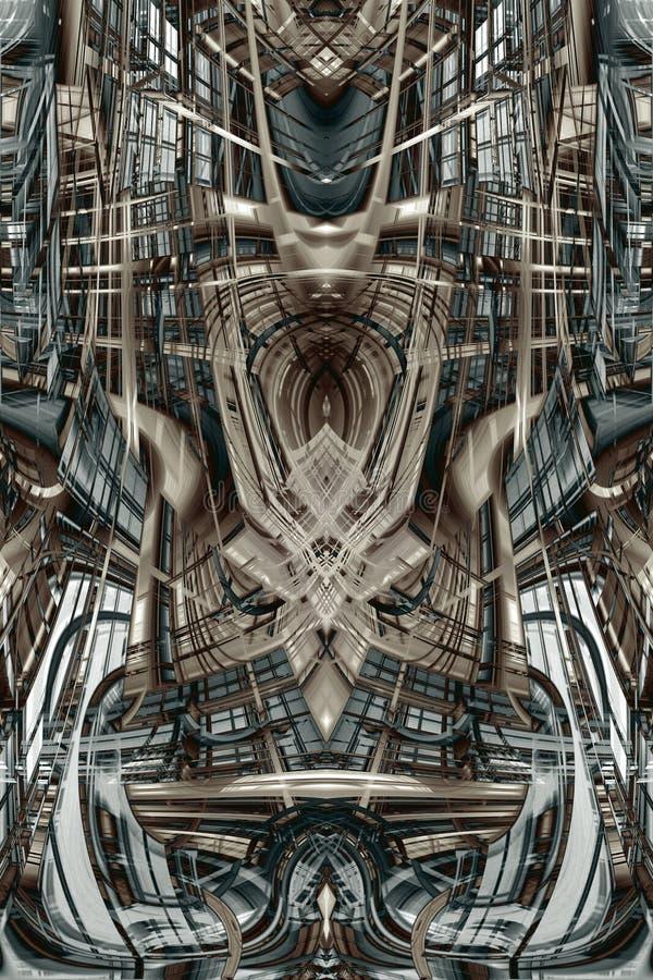 Abstrakcjonistyczny futurystyczny budynek ilustracja wektor