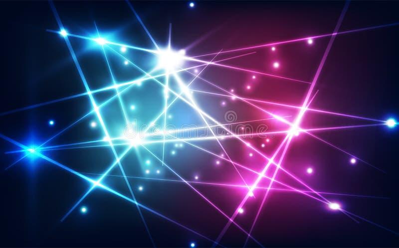 Abstrakcjonistyczny futurystyczny cyfrowy laserowej technologii tło ilustracyjny wektor ilustracji