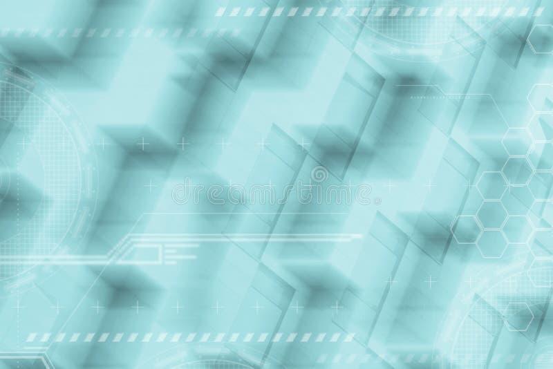 Abstrakcjonistyczny Futurystyczny cyfrowy tło Globalny biznes i komunikacyjni pojęcia z pustą kopii przestrzenią obraz royalty free