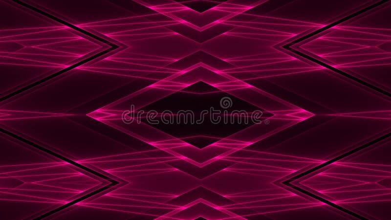 Abstrakcjonistyczny futurystyczny fantastyka naukowa tło z czerwienią barwił rozjarzonych geometrycznych kształty ilustracji