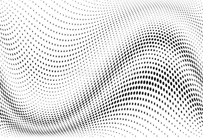 Abstrakcjonistyczny futurystyczny halftone wzór Komiczny tło Kropkowany tło z okręgami, kropki, punkt mała skala royalty ilustracja