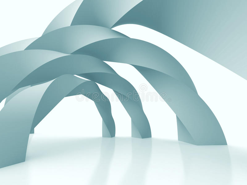 Abstrakcjonistyczny Futurystyczny projekt architektury tło ilustracji