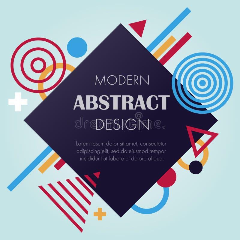 Abstrakcjonistyczny futurystyczny projekt w wektorze ilustracja wektor