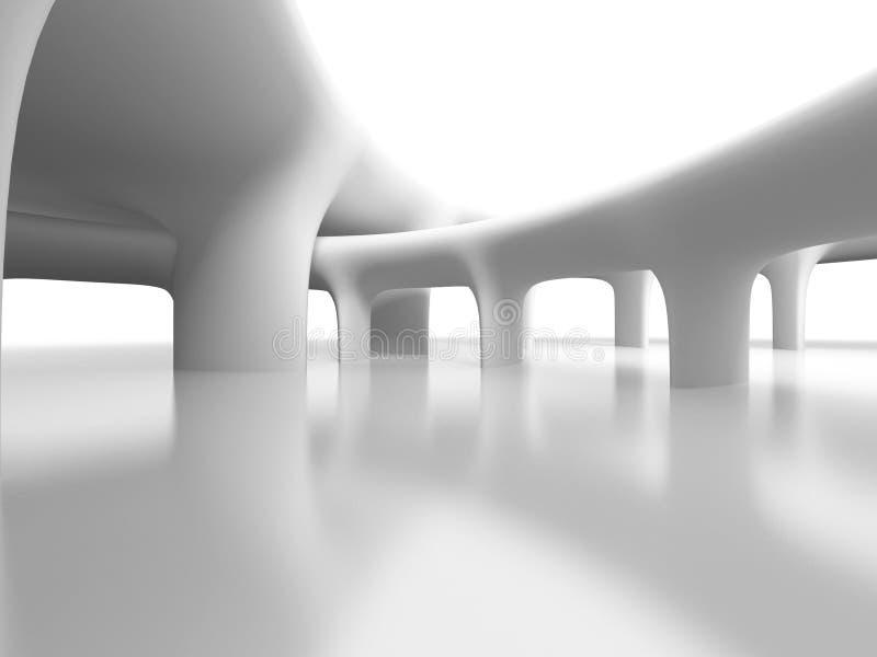 Abstrakcjonistyczny Futurystyczny Szpaltowy architektury tło ilustracji