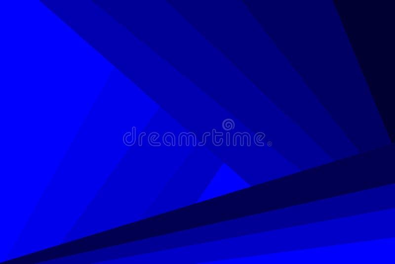 Abstrakcjonistyczny futurystyczny tło błękitny wektor - lampasy i trójboki - ilustracja wektor