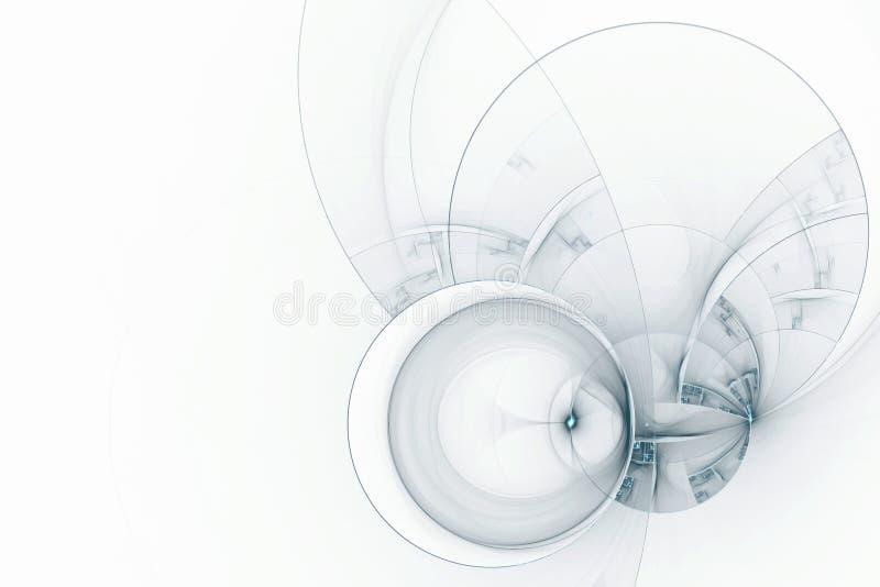 Abstrakcjonistyczny futurystyczny tło ilustracja wektor