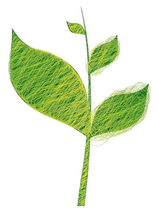 abstrakcjonistyczny gałęziasty drzewo ilustracja wektor