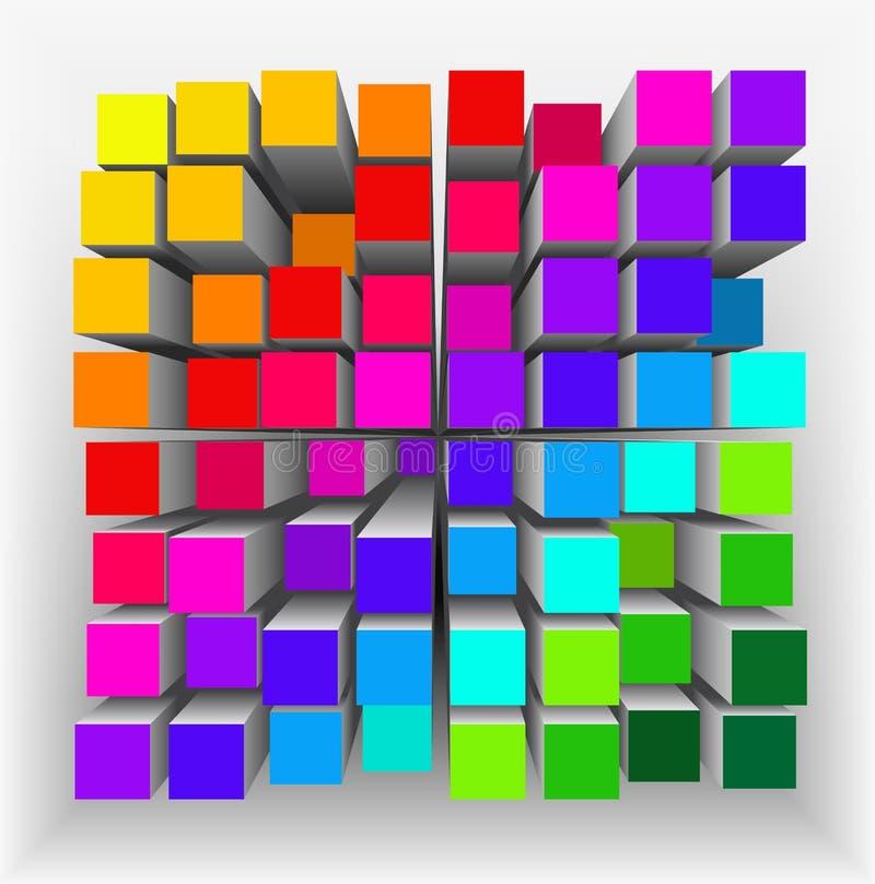 Abstrakcjonistyczny geometrical kształt. royalty ilustracja