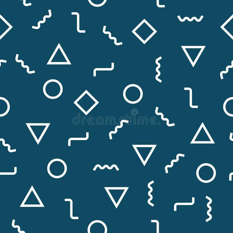 Abstrakcjonistyczny geometryczny błękitny graficznego projekta deco wzór ilustracja wektor