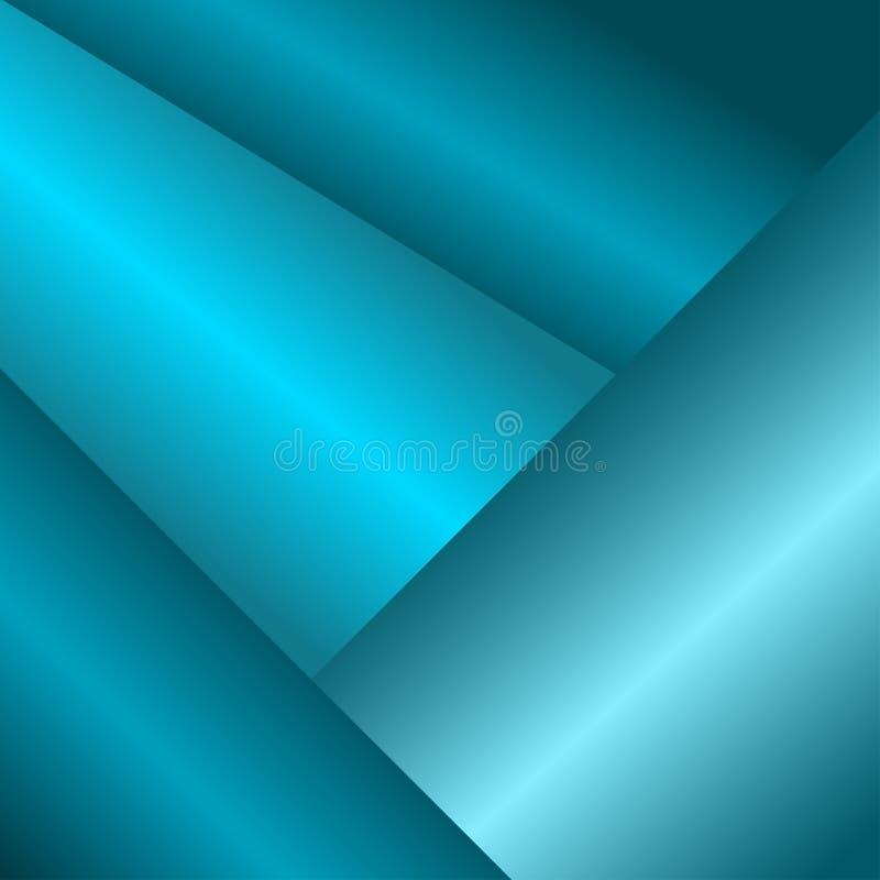Abstrakcjonistyczny geometryczny b??kitny t?o wektor ilustracja wektor