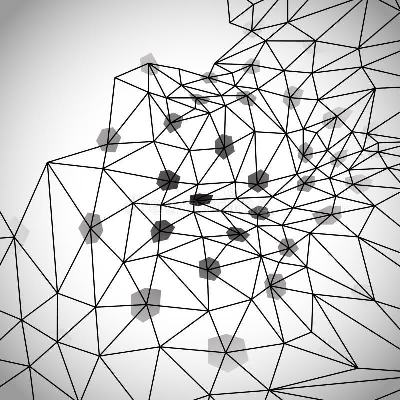 Abstrakcjonistyczny geometryczny backgroun czarny white ilustracji