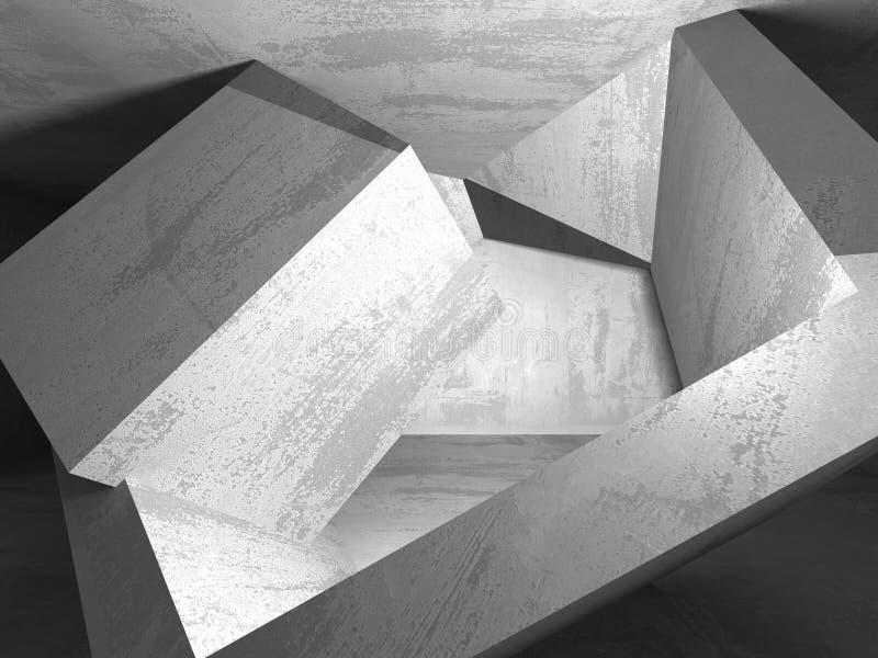 Abstrakcjonistyczny geometryczny betonowy architektury tło royalty ilustracja