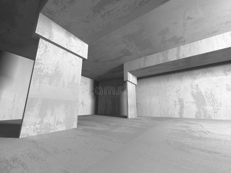 Abstrakcjonistyczny geometryczny betonowy architektury tło ilustracja wektor