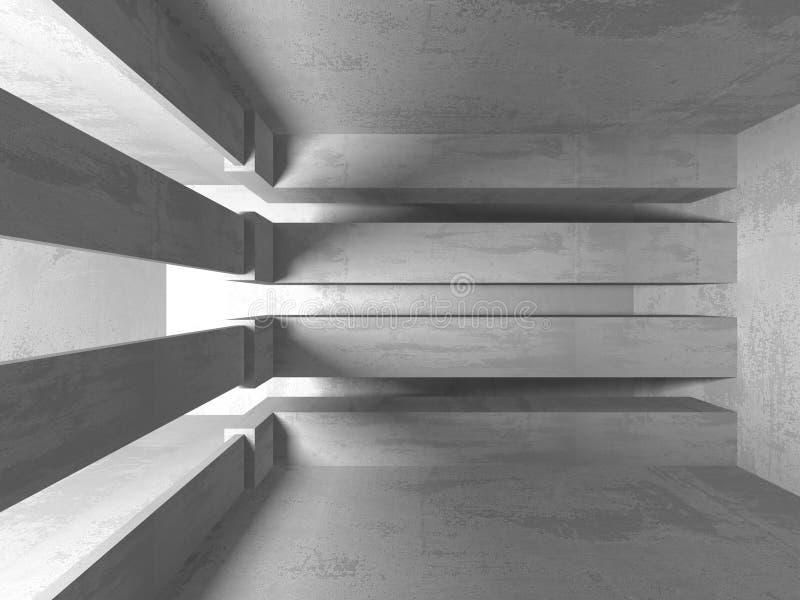 Abstrakcjonistyczny geometryczny betonowy architektury tło zdjęcia royalty free