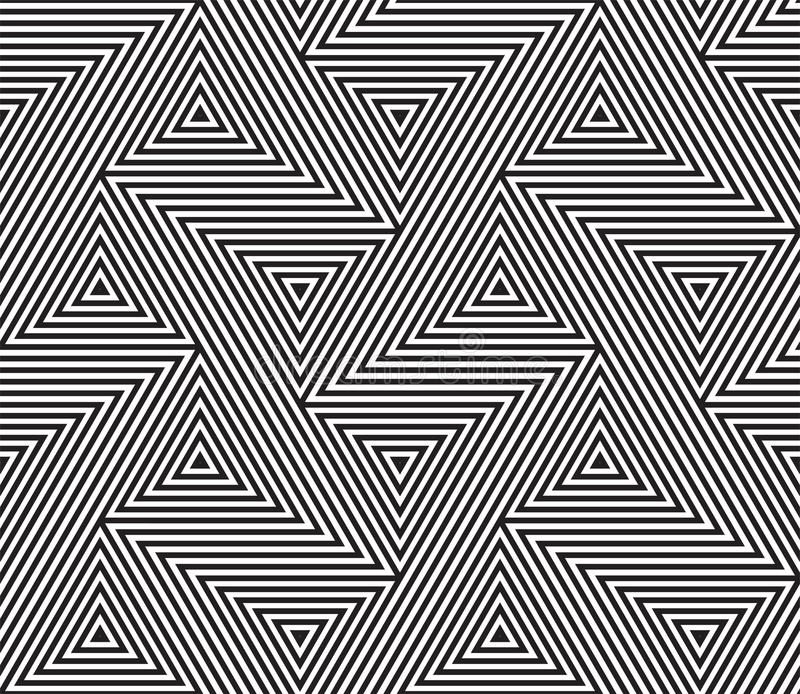 Abstrakcjonistyczny geometryczny bezszwowy deseniowy wektorowy tło ilustracji