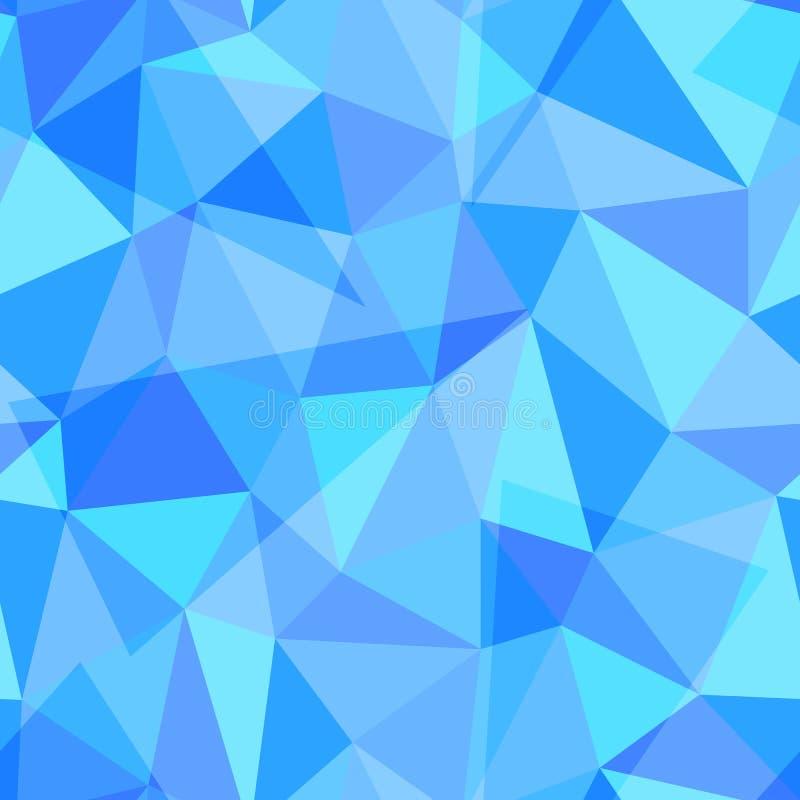 Abstrakcjonistyczny geometryczny bezszwowy wzór różny trójbok kształtuje, eps10 wektoru ilustracja ilustracji