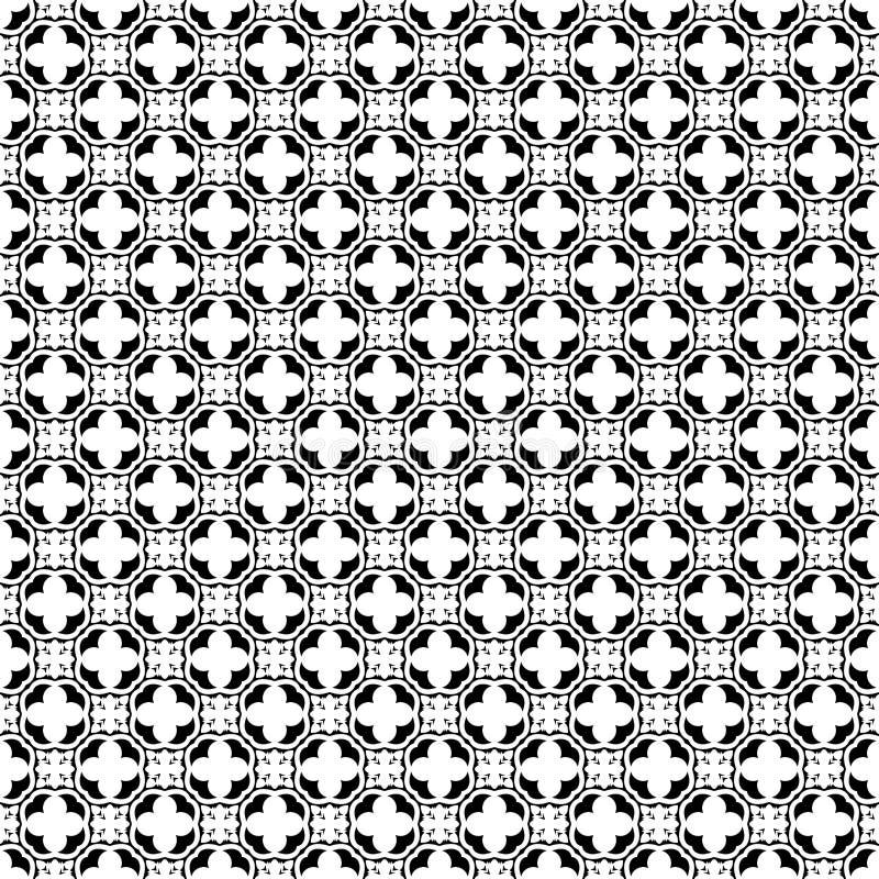 Abstrakcjonistyczny geometryczny bezszwowy wzór w czarny i biały, wektor Projekt, przemysłowy royalty ilustracja