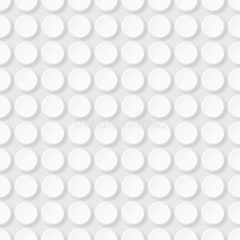 Abstrakcjonistyczny geometryczny bezszwowy wzór z okręgami ilustracji