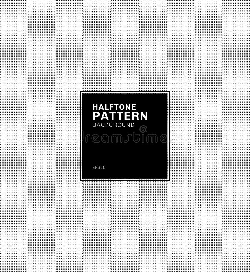 Abstrakcjonistyczny geometryczny czarnego kwadrata wzoru halftone stylu tło royalty ilustracja