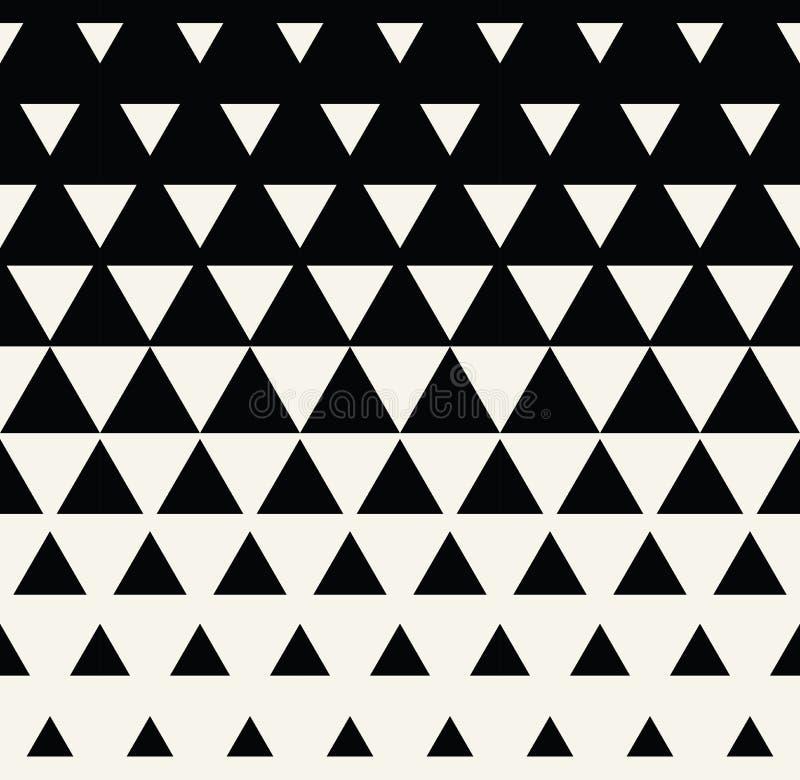 Abstrakcjonistyczny geometryczny czarny i biały graficznego projekta druku trójboka halftone wzór ilustracja wektor
