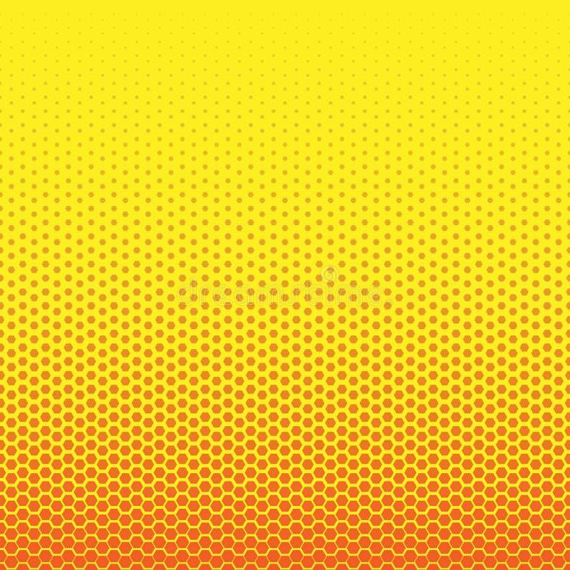 Abstrakcjonistyczny geometryczny czarny i biały graficzny halftone sześciokąta wzór tła zamknięty honeycomb wizerunek zamknięty W royalty ilustracja