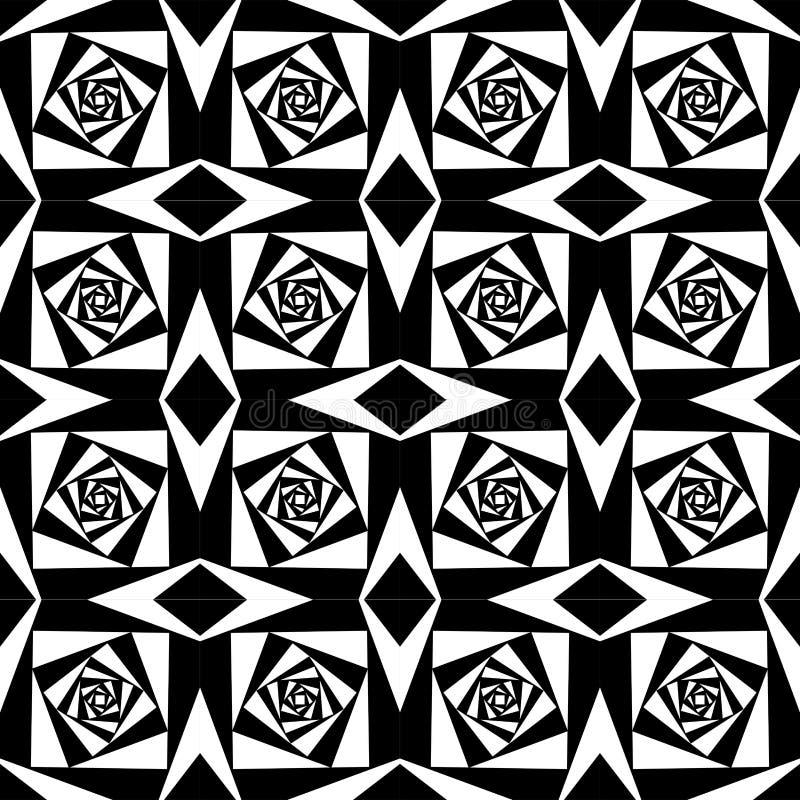 Abstrakcjonistyczny Geometryczny czarny i biały kwadratowy tło royalty ilustracja
