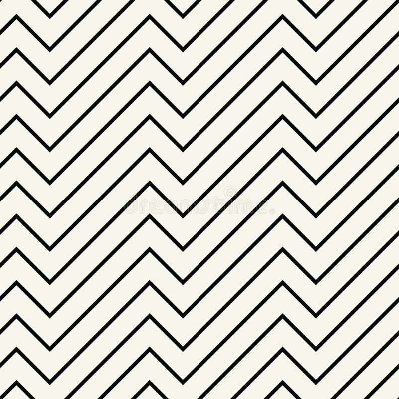 Abstrakcjonistyczny geometryczny czarny i biały minimalny graficznego projekta druku linii wzór royalty ilustracja