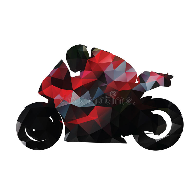 Abstrakcjonistyczny geometryczny czerwony motocyklu wektor royalty ilustracja