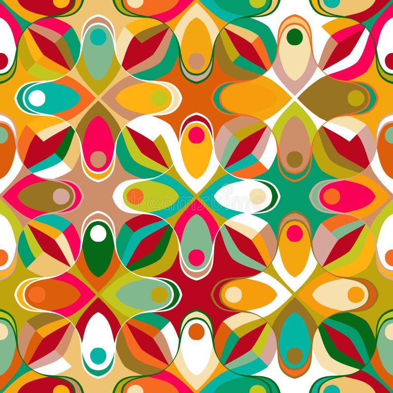 abstrakcjonistyczny geometryczny deseniowy bezszwowy ilustracja wektor