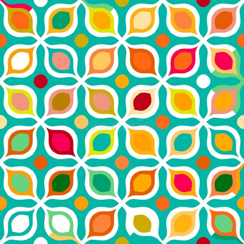 abstrakcjonistyczny geometryczny deseniowy bezszwowy royalty ilustracja