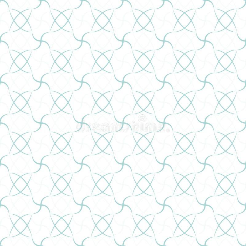 abstrakcjonistyczny geometryczny deseniowy bezszwowy błękitny fotografia royalty free