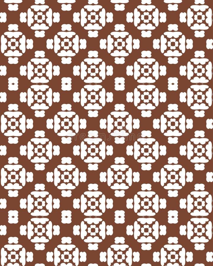abstrakcjonistyczny geometryczny deseniowy bezszwowy Brown i bielu wzór z linią royalty ilustracja