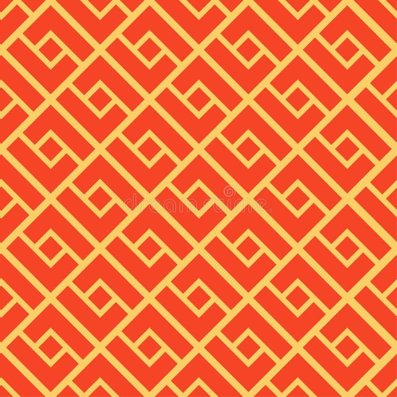 abstrakcjonistyczny geometryczny deseniowy bezszwowy Chiński tło ilustracja wektor