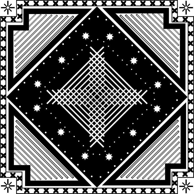 Download Abstrakcjonistyczny Geometryczny Deseniowy Bezszwowy Czarny White Wzoru Ilustracja Wektor - Ilustracja złożonej z druk, dekoracyjny: 53787480