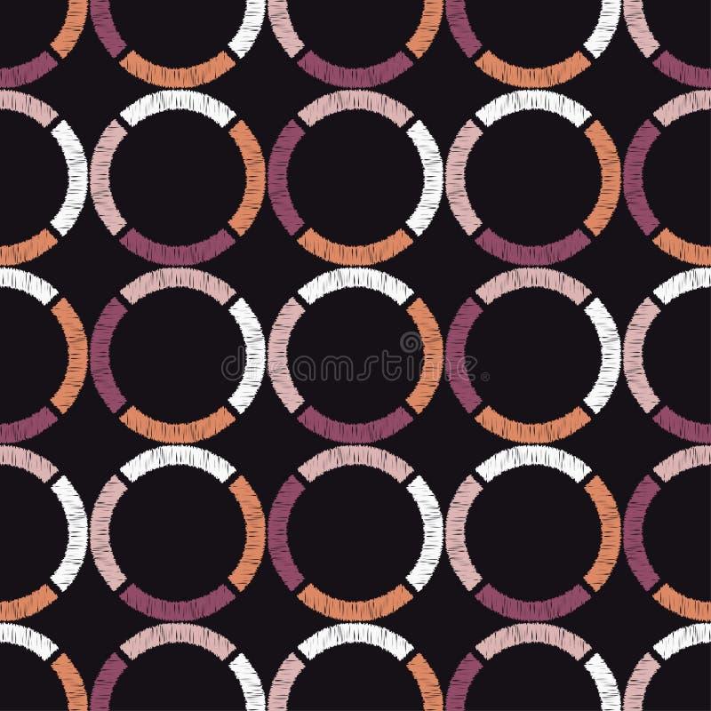 abstrakcjonistyczny geometryczny deseniowy bezszwowy tło był może używać mozaiki tekstura brushwork Ręki kluć się ilustracji