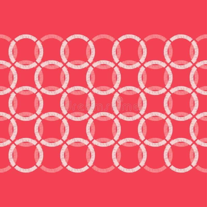 abstrakcjonistyczny geometryczny deseniowy bezszwowy tło był może używać mozaiki tekstura brushwork Ręki kluć się ilustracja wektor