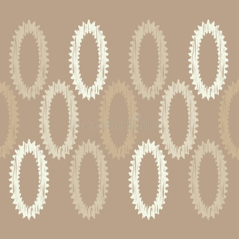 abstrakcjonistyczny geometryczny deseniowy bezszwowy tło był może używać mozaiki tekstura brushwork Ręki kluć się royalty ilustracja