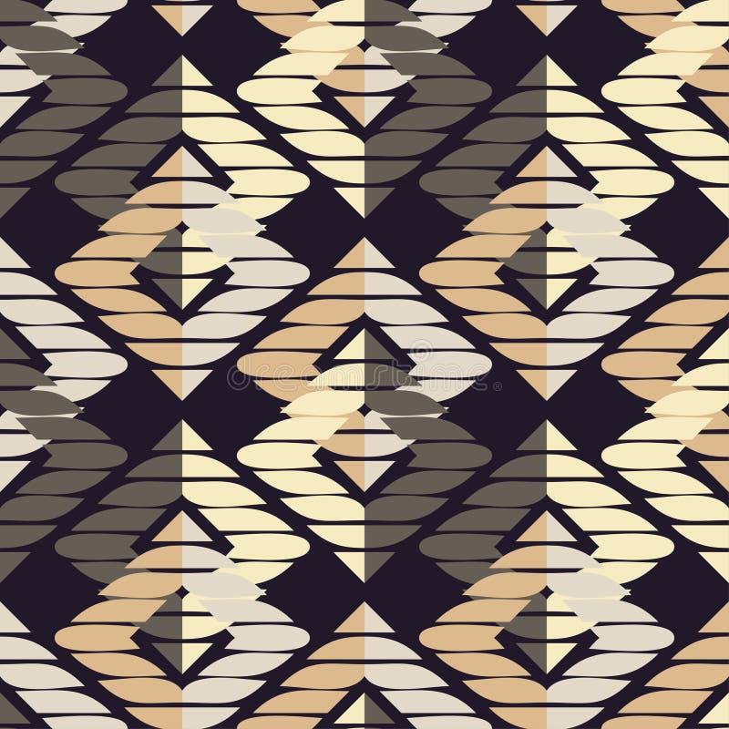 abstrakcjonistyczny geometryczny deseniowy bezszwowy Tekstura rhombus brushwork Ręki kluć się Skrobaniny tekstura ilustracji