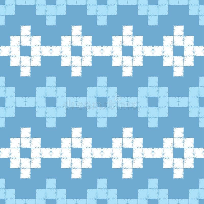 abstrakcjonistyczny geometryczny deseniowy bezszwowy Wzór piksle tło był może używać mozaiki tekstura brushwork Ręki kluć się Skr ilustracja wektor