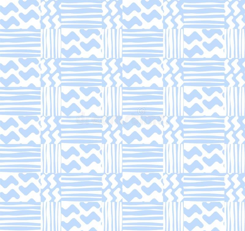 abstrakcjonistyczny geometryczny deseniowy bezszwowy Bezszwowy wzór z lampasami ilustracji
